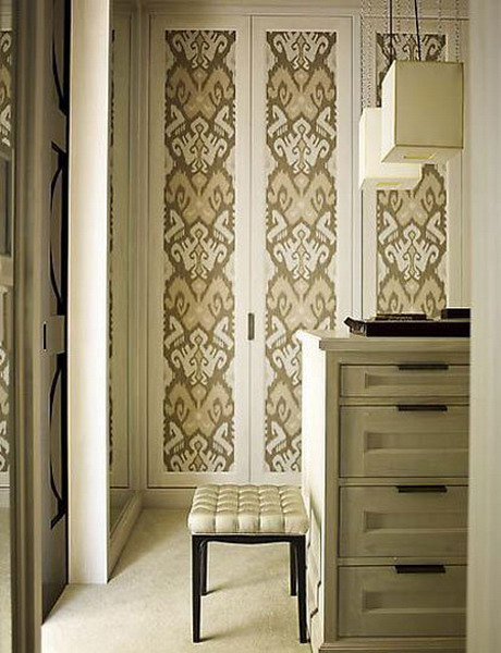 Wallpaper On A Door