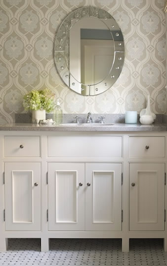 30 bathroom wallpaper ideas - shelterness