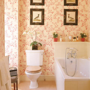 bathroom wall paper. Wallpapers In A Bathroom 30 Wallpaper Ideas  Shelterness