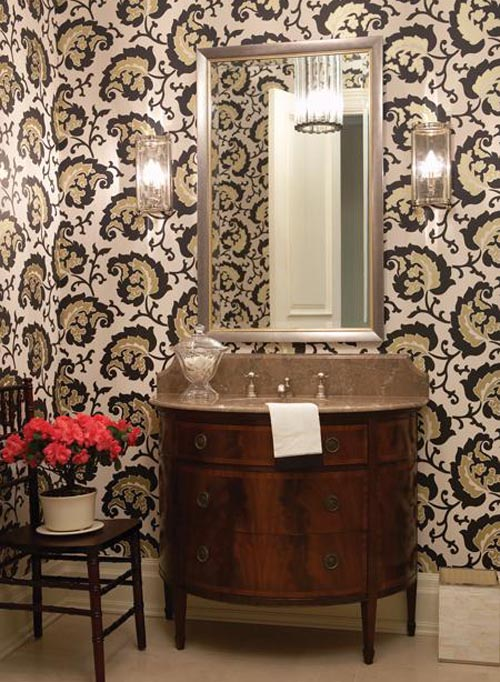 bathroom wallpaper ideas paftan