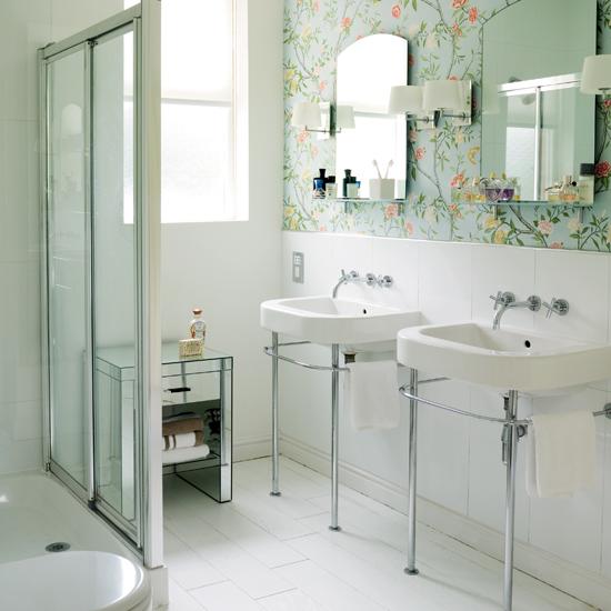 bathroom wallpaper ideas  shelterness,