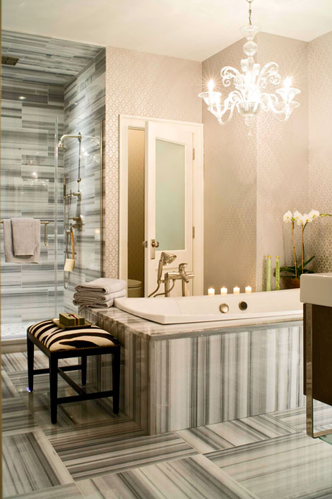 30 bathroom wallpaper ideas shelterness for Bathroom wallpaper designs