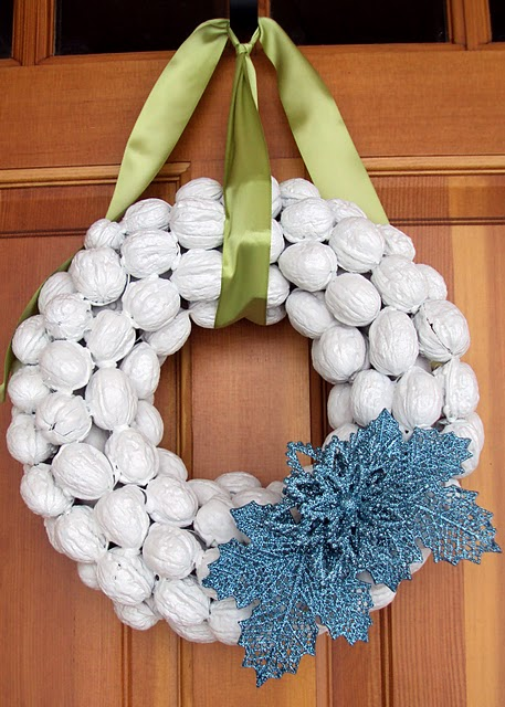 DIY Walnut Holiday Wreath