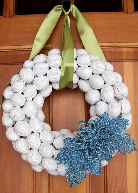 Walnut Holiday Wreath