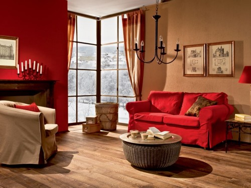 Warm And Very Cozy Living Room Design