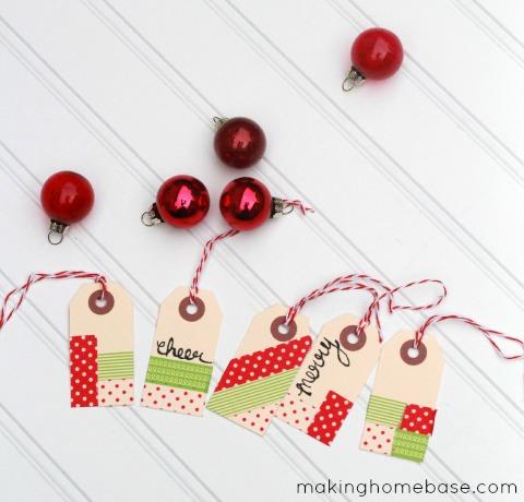 washi tape gift tags (via makinghomebase)