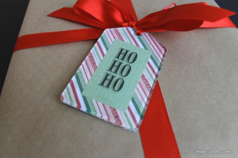 Mod Podge gift tags