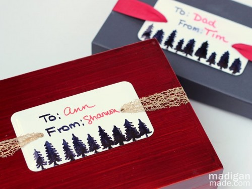gift tags with markers (via madiganmade)