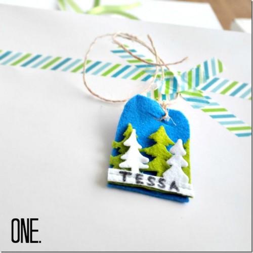 felt gift tags (via nelliebellie)