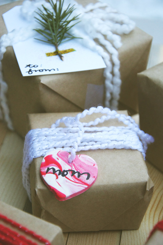 simple and cheery gift tags