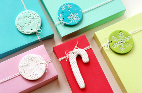 clay gift tags (via lisastorms)