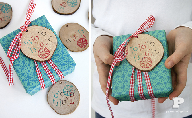 wooden stamped tags