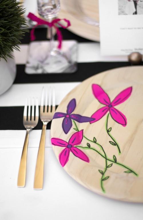 floral plates (via kristimurphy)