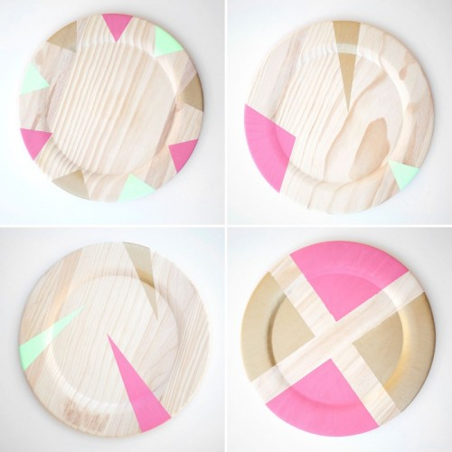 geometric plates (via brit)