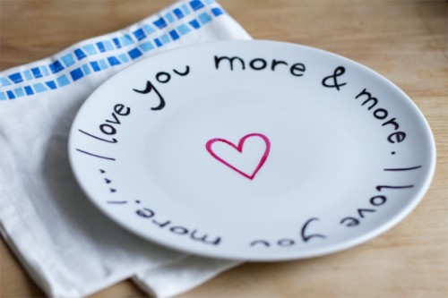 LOVE plates (via look-what-i-made)