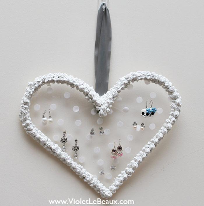 Whipped Cream Heart Earrings Hanger