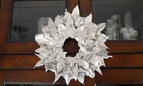Transform An Autumn Leaf Wreath To The Winter One