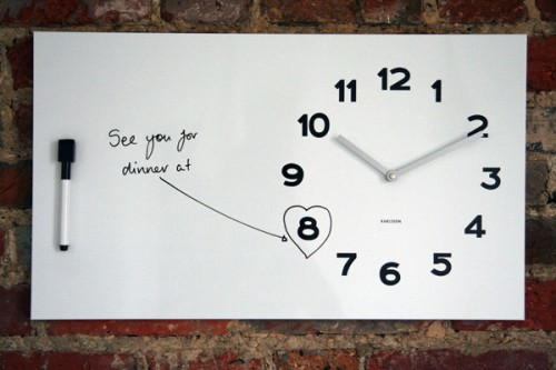 Whiteboard Message Clock