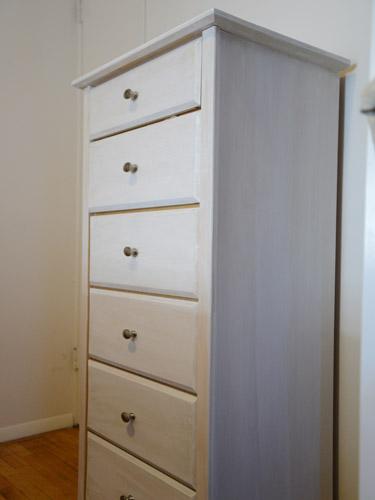 whitewashed dresser