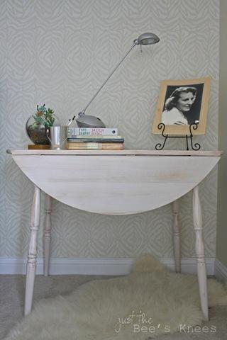 whitewashed round table