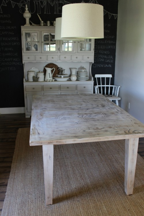 Awesome whitewash dining room furniture via proverbsgirl