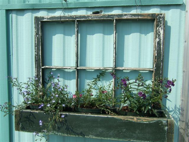 Awesome DIY Flower Box From An Old WIndow Shelterness