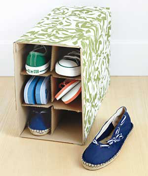 Wine Box As DIY Shoe Storage