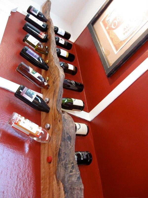 Wine Rack Made Of Live Edge Maple Scrap