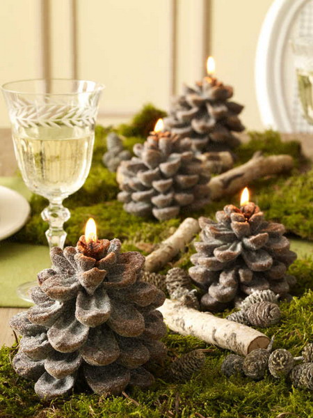 Decorating With Nature 15 Nature Inspired Candle Decorating Ideas For Winters Photo 3