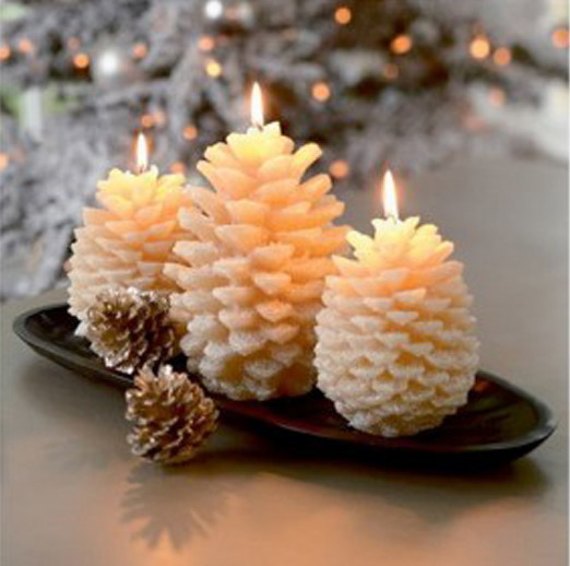 15 nature inspired candle decorating ideas for winters photo 11