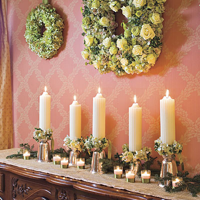 winter candle decorations - Candle Decorations