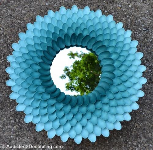 DIY Chrysanthemen Spiegel bauen