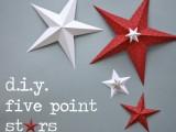 DIY five point stars