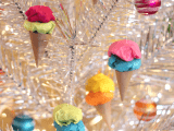 Paper ice cream ornaments