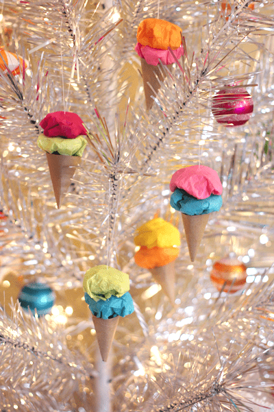 paper ice cream ornaments