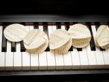 Printed music paper garland