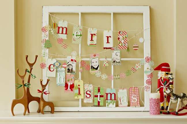 Handmade window garland For Christmas