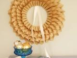 Eco DIY paper wreath