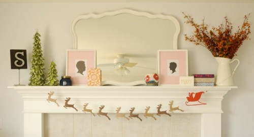 Do you have a mantel? Make this easy-peasy garland to make it looks cute. (via theproperpinwheel)