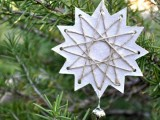 12-point embroidered paper stars
