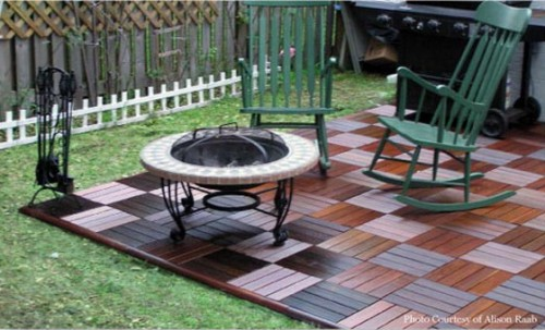 Wood Decking On A Patio