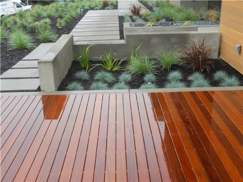 Amazing Wood Decking On A Patio