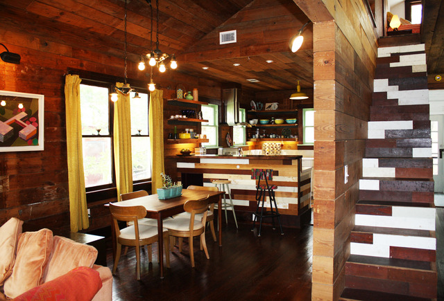 Wood Wrapped Bungalow Interior Design