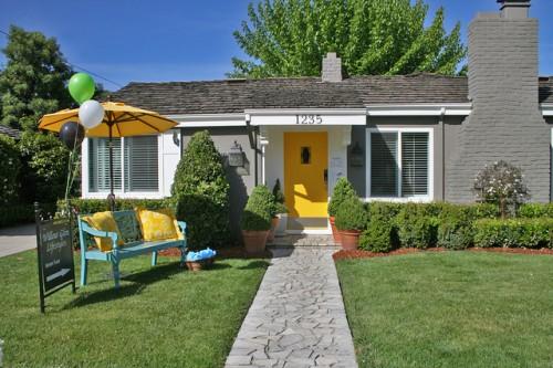 15 yellow front door designs to inspire - shelterness