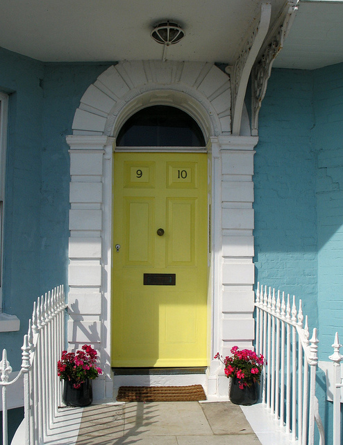 Yellow Front Door Designs