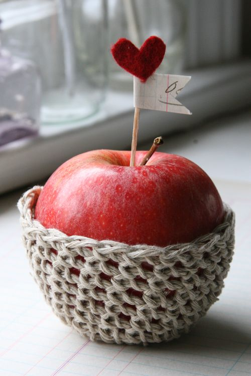 crocheted apple cozy