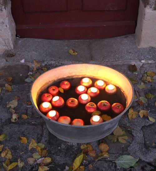 diy apple votive
