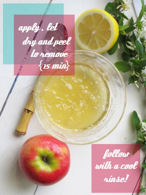 lemon and apple peel mask (via paisleyboulevard)