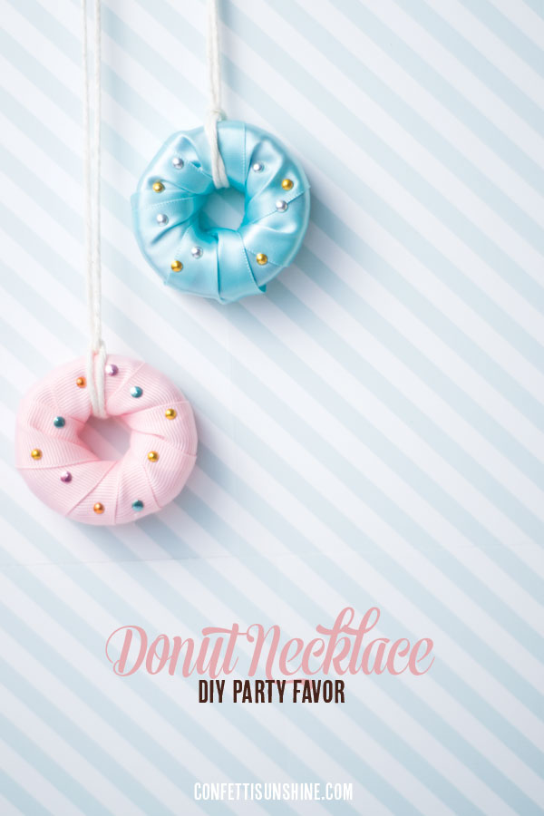 Yummy-Looking DIY Donut Necklace