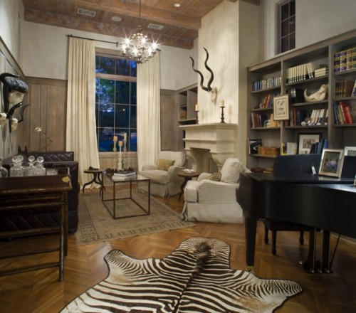 Zebra Rug Interior Design: 20 Zebra Interior Decorating Ideas